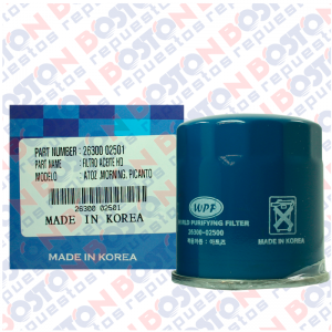 Filtro aceite hyundai Accent RB 2012 HD